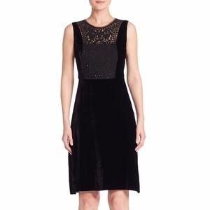 Elie Tahari black velvet dress